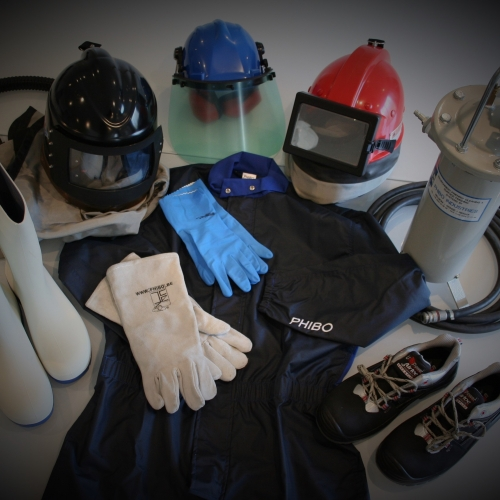 Safety equipment during air-gumming
